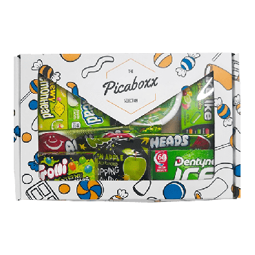 Picaboxx All Green American Candy Selection Gift Box ★ 9 Products Pack (Box of 6)