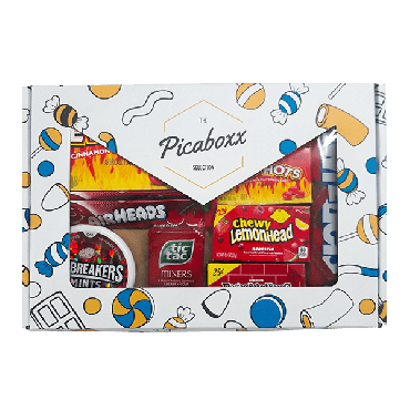 Picaboxx All Red Candy American Selection Gift Box  ★ 10 Products Pack (Box of 6)