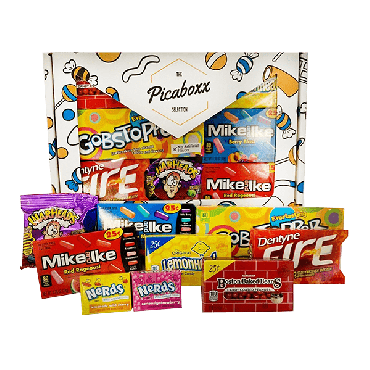 Picaboxx American Mixed Sweets Selection Gift Hamper Box ★ 7 Products (Box of 6)