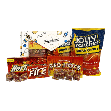 Picaboxx Cinnamon Spicy Hot American Candy Selection Gift Box ★ 11 Products Pack (Box of 6)