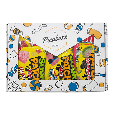 Picaboxx Sour Patch and Swedish Fish American Candy Selection Gift Box ★ 5 Products Pack (Box of 6)