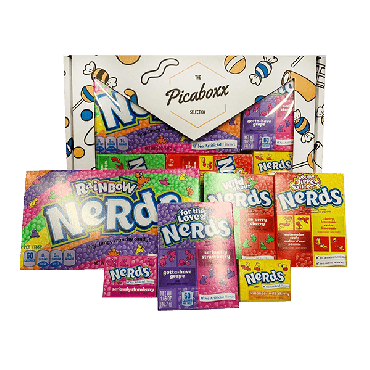 Picaboxx Wonka Nerds American Candy Selection Gift Box - 6 Products Pack (Pack of 6)