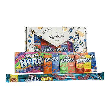 Picaboxx Premium Large Wonka Nerds American Candy Selection Gift Box ★ 8 Products Value Pack (Pack of 6)