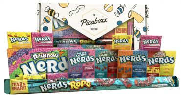 Picaboxx Wonka Nerds American Candy Selection Gift Box - 12 Products Value Pack (Box of 6)