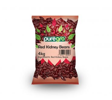 Puregro Red Kidney Beans 4kg (Box of 4)