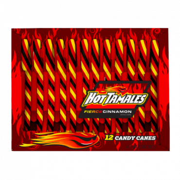 Hot Tamales Candy Canes 150g (5.3oz) (Box of 12)