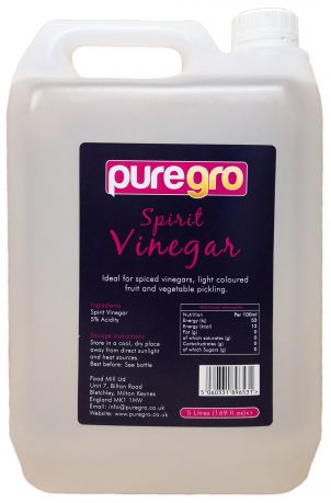 Puregro Spirit Vinegar 5ltr (1.69 fl.oz) (Box of 4)