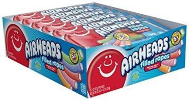 Air Heads Filled Ropes Assorted 57g (2oz) (Box of 18)
