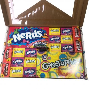 Picaboxx Large Gobstopper and Nerds American Candy Gift Box ★ 19 Products  (Box of 6)