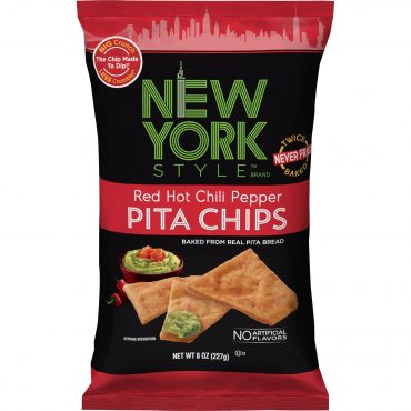New York Style Red Hot Chilli Pepper Pita Chips 226g (8oz) (Box of 12)