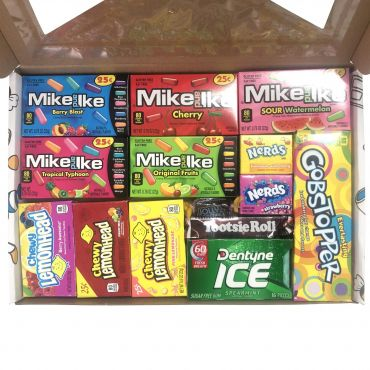 Picaboxx American Candy Selection Gift Box ★ 14 Products Value Pack | American Candy Hamper | Sweet Gift Box with Display Window (Box of 6)