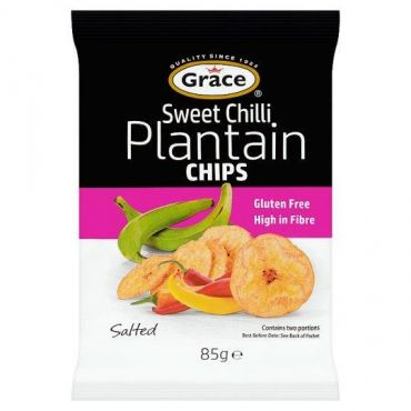 Grace Sweet Chilli Plantain Chips 85g (Box of 9)